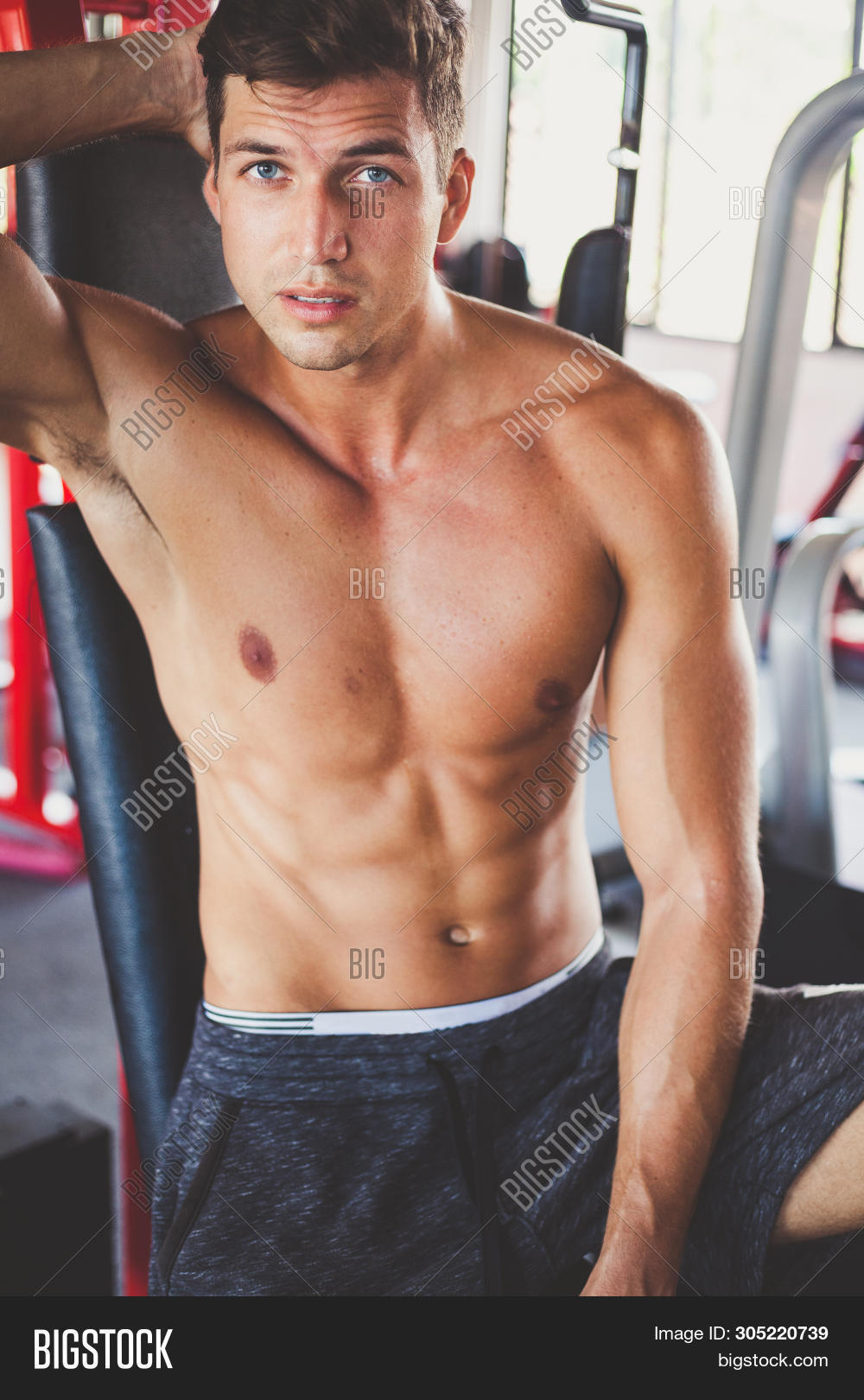 Nacked men with abs