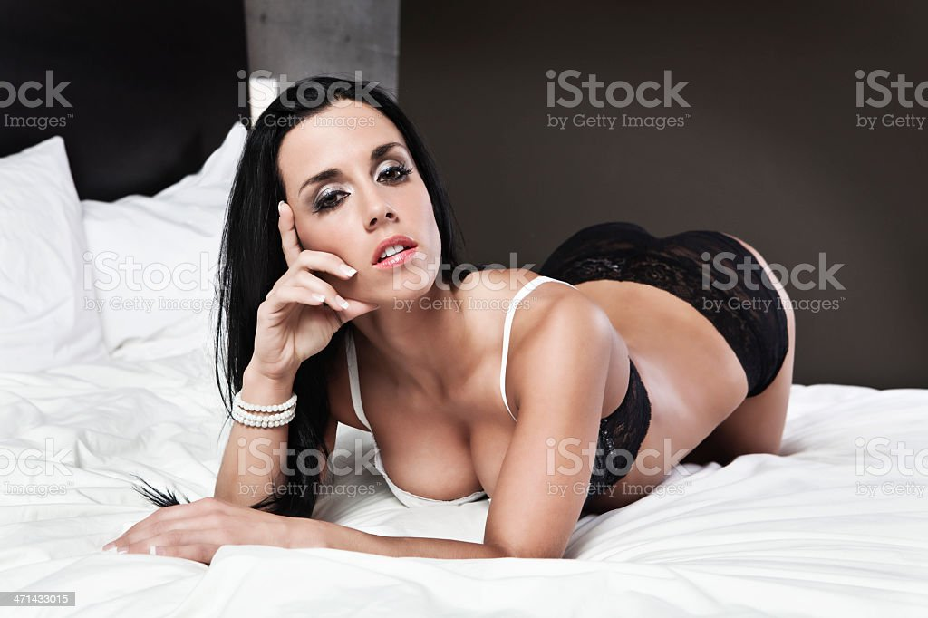Sexy woman laid down