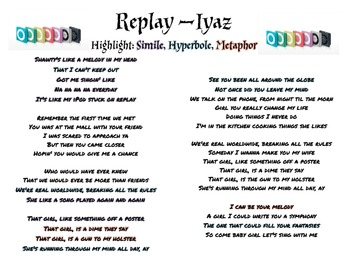 Popular songs with figurative language